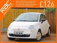 2011 Fiat 500 0.9 Twinair Pop 5 Speed Just 1 Lady Owner Only 20,000 Miles Servic