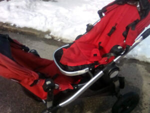 City Select Double Stroller, Red EUC