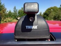 Thule Roof rack / Roofrack / Bike Cycle Carrier, Rapid System 753 Footpack, Square Roof Bars 761