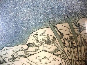 "Original Signed Serigraph by Rita Hurault ""Summer Sea"" 1990's Stratford Kitchener Area image 10"