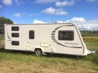 6 berth caravan with full size awning