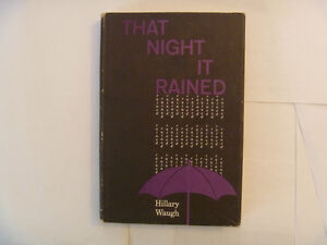 HILLARY WAUGH - That Night It Rained - 1961 Hardcover with DJ