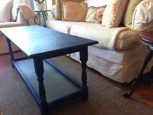 "Beautiful Solid Walnut Coffee Table, with lower shelf, 48"" x 18"""