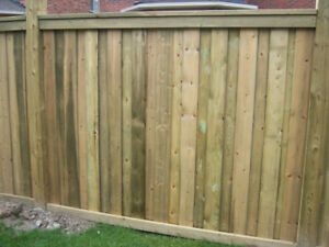 FENCE Special - 6x6 posts - 6 ft high Sienna PT $29.99 / ft
