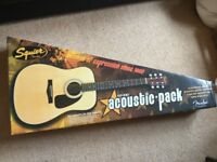 Fender Squier SA-100 Acoustic Guitar Pack (Boxed Like New)