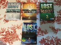 Lost Seasons 1,2,3,4 DVD Boxsets