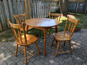 Solid Maple Dining Set (Made in Canada!)