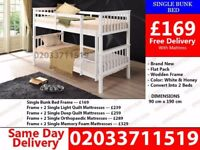 ***Brand New White Wooden Bunk Bed*** Piermont