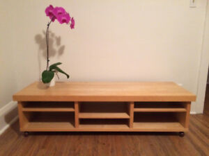 TV Bench - TV Stand - Coffee Table - IKEA OPPLI, Birch laminate