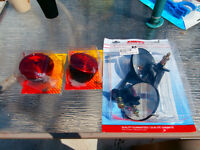 mirrors for skido 4x4 or sea-doo lights for trailer all new in p