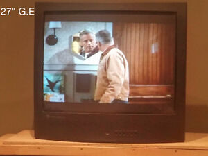 "27"" tube TV with a SONY DVD player included"