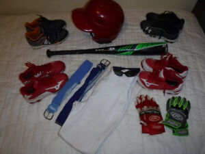 Lot of Youth Baseball Equipment Under Armour, Mizuno