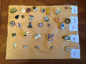 COLLECTION  30 CURLING SPORT PINS FROM CANADA GERMANY & U.S.A.