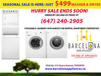 STACKABLE FRONTLOAD WASHER&DRYER SALE ENDS WED AUG 5