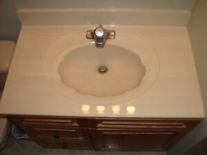 Bathroom Sink complete with DELTA FAUCET