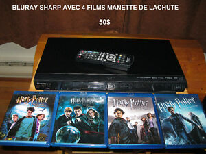 LECTEUR BLU-RAY SHARP + 4 FILMS