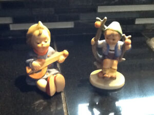 HUMMEL GOEBEL GERMANY FIGURNES x2 BOY GIRL