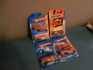 Hot Wheels Fire Trucks Lot of 4 Variations 1:64