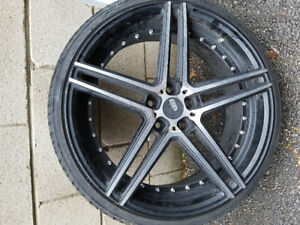 """Selling 4  20""""  PTR rims and tires,"""
