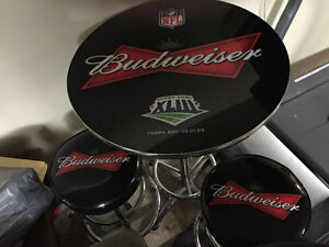 Budweiser bar table and stools