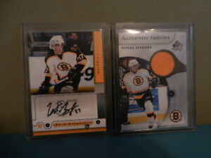 Patrice Bergeron Be A Player Autograph and Jersey Cards Lot 2