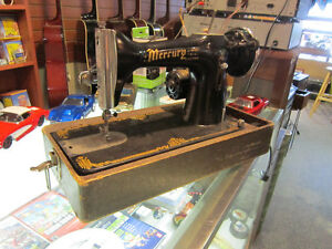 Vintage MERCURY Sewing Machine With Carrying Case