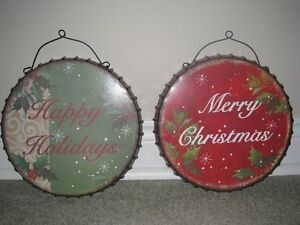 Merry Christmas and Happy Holidays signs