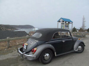 Antique Convertible Volkswagon Beetle