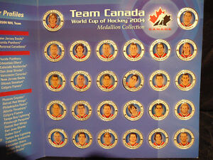 TEAM CANADA WORLD CUP OF HOCKEY 2004 MEDALLION COLLECTION West Island Greater Montréal image 2