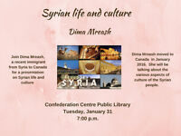 Presentation on Syrian life and culture