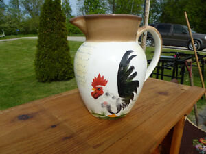 RARE ROOSTER COLLECTOR PLATE & MATCHING PITCHER Kingston Kingston Area image 4
