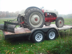 8n ford tractor, blade, trailer Kitchener / Waterloo Kitchener Area image 1