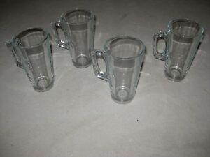 4 Glass Latte Glasses - $5.00 obo Kitchener / Waterloo Kitchener Area image 3