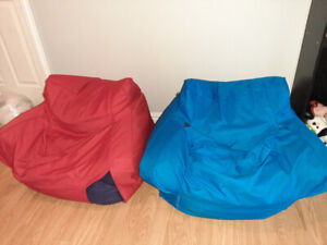 2 used beanbag chairs