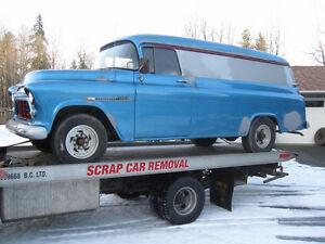 Does anyone remember this blue 1955 Chev panel from Leduc? Strathcona County Edmonton Area image 1