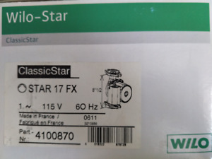 WILO:4100870 (WILO STAR 17 FX)-OVERSTOCK PRODUCT