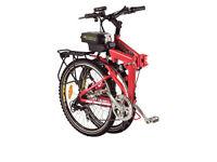 Red Folding E Bike 2015 Foldable Electric Mountain Bicycle Multi