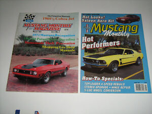 1981-88 MUSTANG MONTHLY MAGAZINES