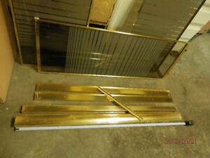 Free used Sliding Shower Doors glass and gold.