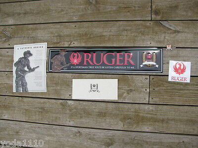 Ruger 10 22 Collectors Series Tin Metal Sign Man Cave Garage Ebosses W  Hat Pin