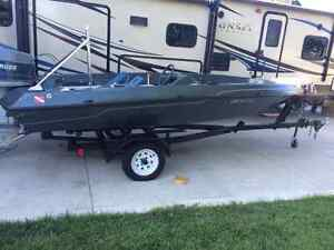 16' Skeeter Bass Boat with 1990's 60 HP Evinrude triple