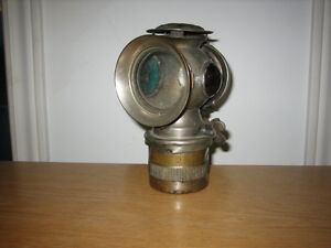 1899 Solar Bicycle Lamp Made by C.M. Hall Lamp Company