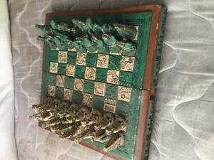 Decorative chess set from Mexico