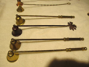collection of candle snuffers.