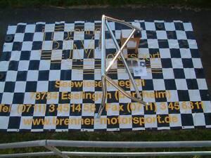 45 Hochglanz polierter Alu Wiechers Überrollbügel für Golf 2 mit Kreuzstrebe
