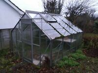 EDEN ALUMINIUM GREENHOUSE FOR SALE - 8 FT BY 8 FT - BARGAIN