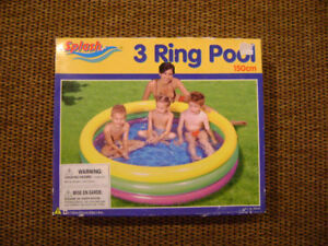 3 RING BABY POOL(150 cm) WITH 12 V CAR PUMP