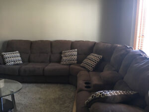 Sectional with recliners and sofa bed