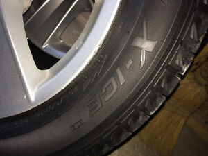 Factory Mitsubishi Lancer alloy wheels with Michelin snow tires Peterborough Peterborough Area image 5