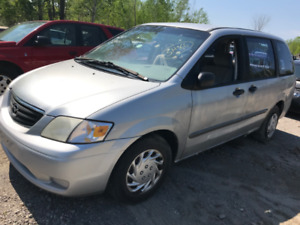 2000 Mazda MPV ** FOR PARTS ** INSIDE & OUTSIDE **